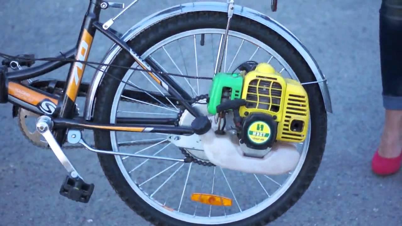 Как сделать двигатель на велосипед