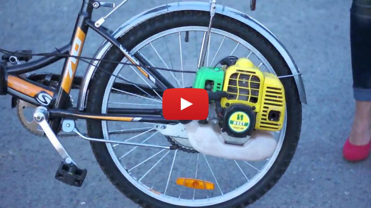 Bike Powered by a Chainsaw