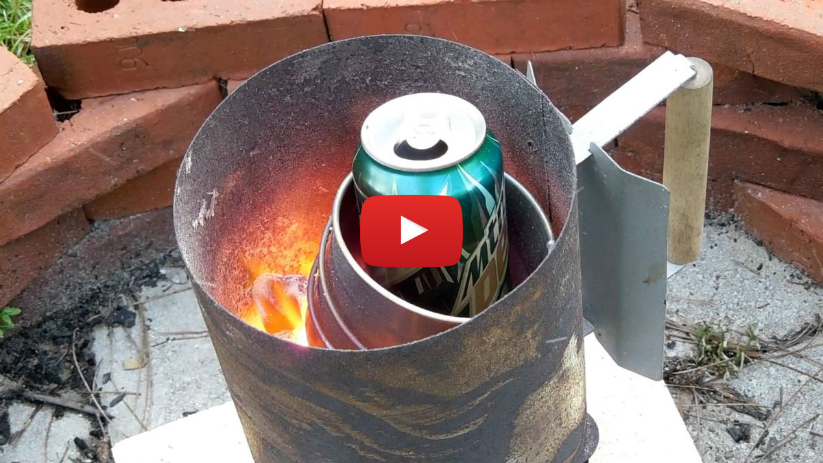 Diy Metal Furnace : Very simple aluminum furnace vinemoments