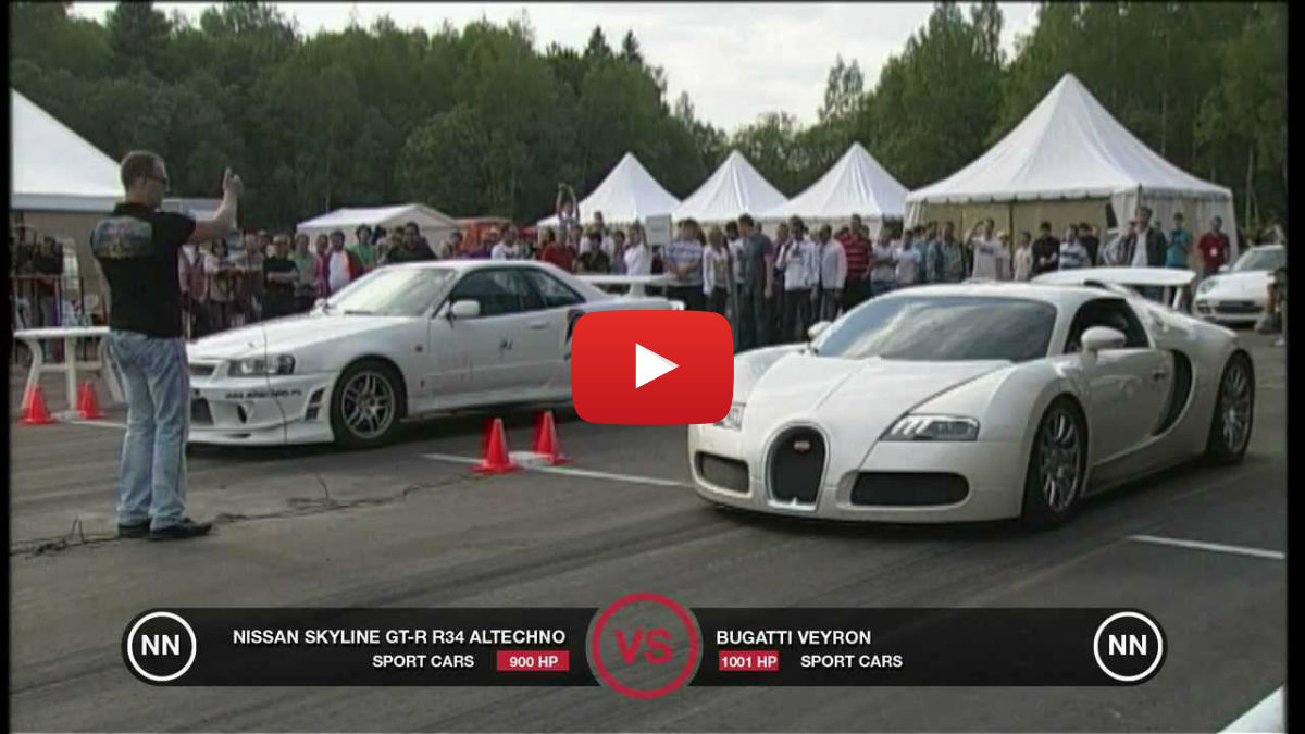 bugatti veyron vs nissan skyline gt r r34 vinemoments. Black Bedroom Furniture Sets. Home Design Ideas