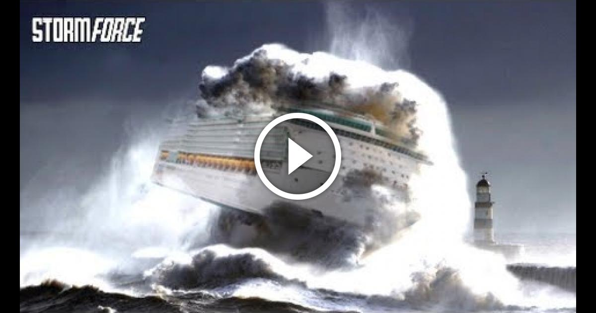 Ships In Storm Monster Waves Of The Sea Vinemoments